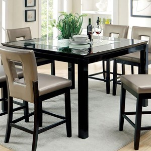 Contemporary Counter Height Table with Mirror Insert