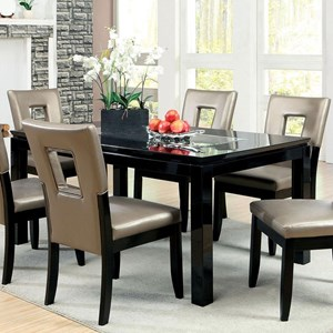 Contemporary Dining Table with Mirror Insert