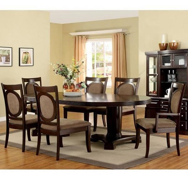 Evelyn 7 Piece Table and Chair Set at Household Furniture
