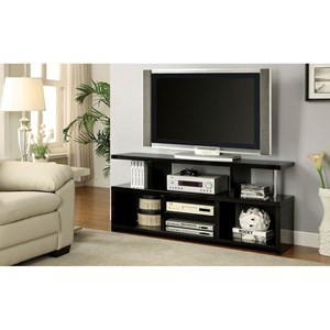 Contemporary TV Console with Open Shelving