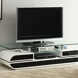"63"" Glass Top TV Console"