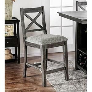 X-Cross Back Counter Height Chair