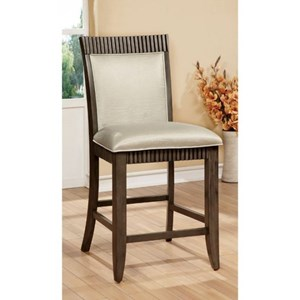 Pack of 2 Transitional Counter Height Chairs