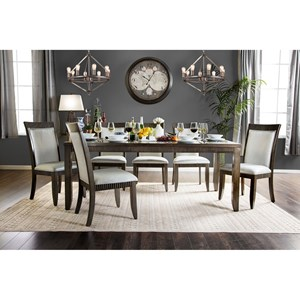 Transitional Table and 6 Chairs