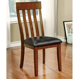 Set of 2 Side Chairs with Slat Back