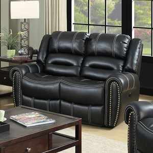Power-Assist Loveseat with Nailhead Trim