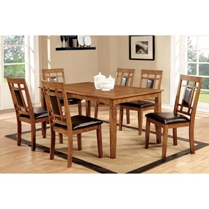 Transitional 7 Piece Table Set