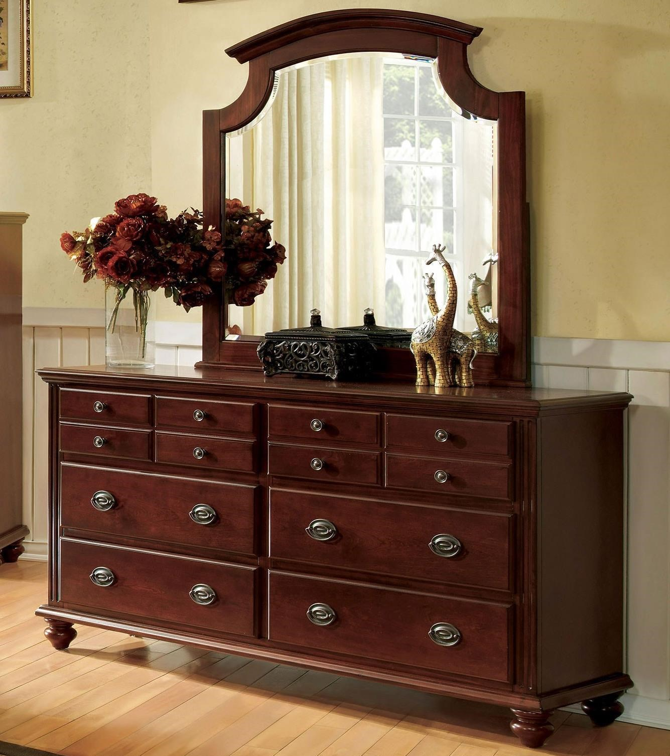 Gabrielle II Dresser and Mirror Set at Household Furniture