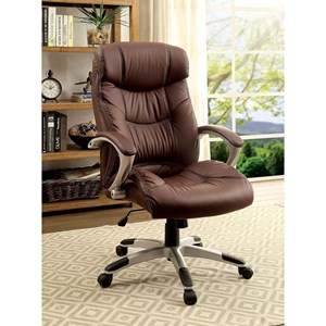 Contemporary Office Chair with Casters and Padded Armrests