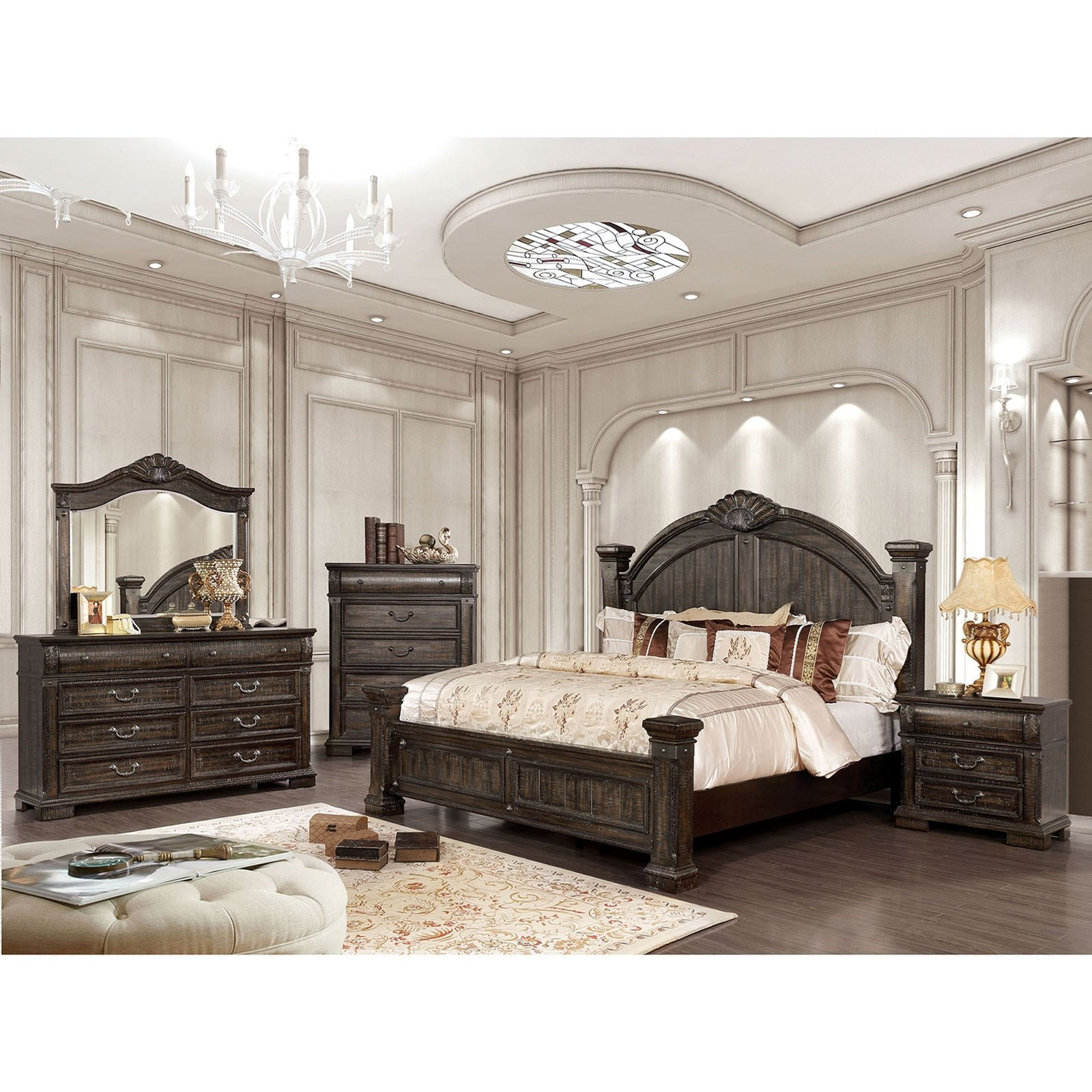 Genevieve Queen Bedroom Group at Household Furniture
