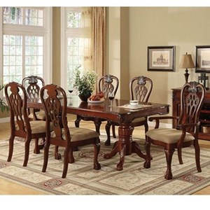 Traditional Dining Table and Chair Set