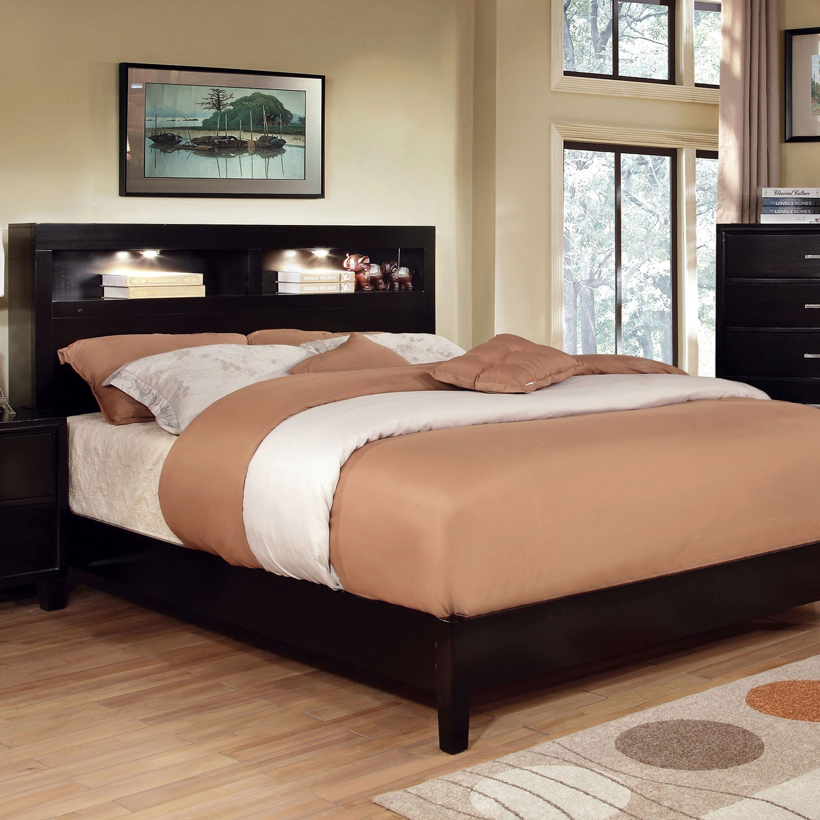 Gerico I Queen Bookcase Bed by Furniture of America at Nassau Furniture and Mattress