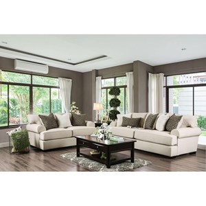 Transitional Sofa and Love Seat