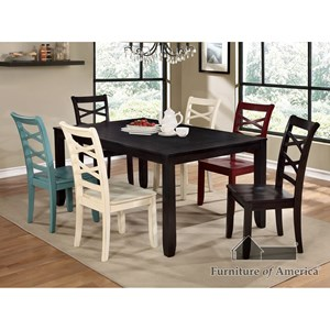 Table and Mismatched Chair Set