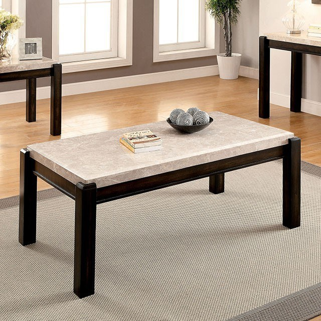 Gladstone III--705881900 Coffee Table with Marble Top by Furniture of America at Value City Furniture