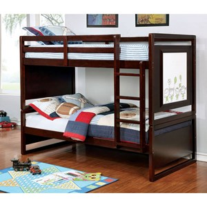 Transitional Twin/Twin Bunk Bed