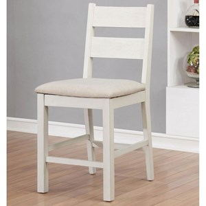 Set of Counter Height Ladder Back Chairs