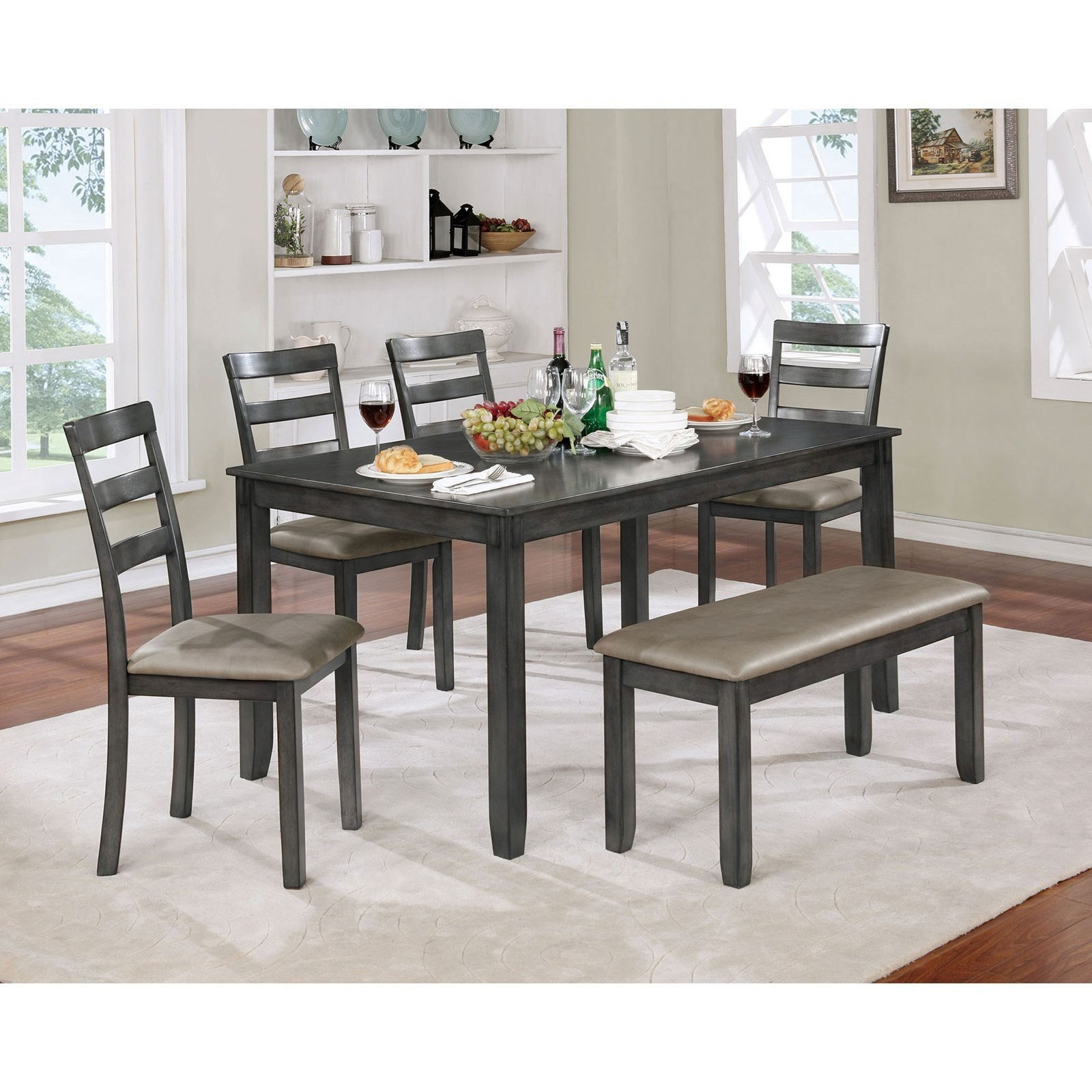 Gloria 6 Pc. Dining Table Set at Household Furniture