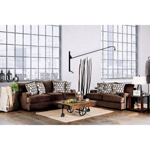 Transitional Sofa and Love Seat with Track Arms