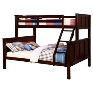 Transitional Twin over Queen Bunk Bed
