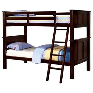 Transitional Twin over Twin Bunk Bed