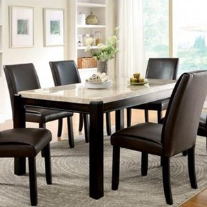Contemporary Dining Table with Marble Top