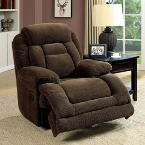 Power-Assist Recliner with Pillow Arms and Padded Headrest