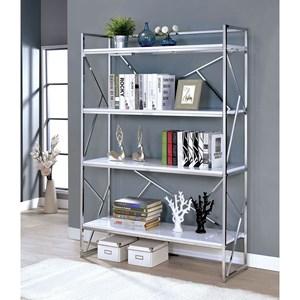Contemporary 4-Tier Bookcase