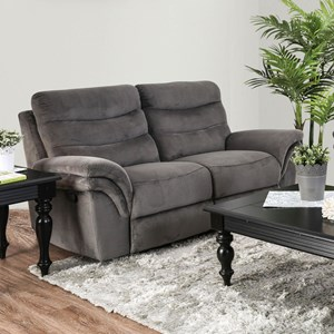 Loveseat with Pillow Arms