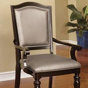 Transitional Arm Chair with Nailhead Trim
