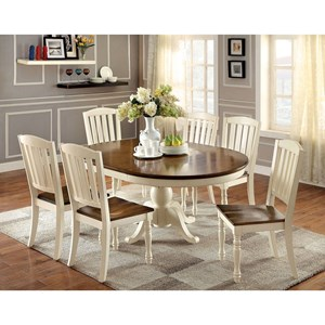Cottage Oval Dining Table with Butterfly Leaf