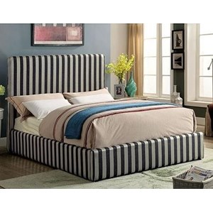 Contemporary Upholstered Low Profile Twin Bed