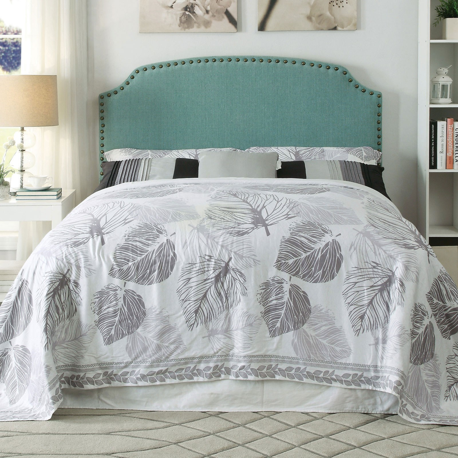 Hasselt Queen (Full Compatible) Blue Headboard at Household Furniture