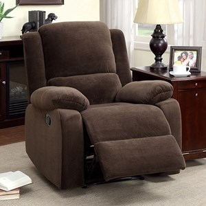 Casual Recliner in Flannel-Like Fabric