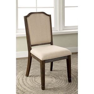 Set of 2 Transitional Upholstered Dining Side Chairs