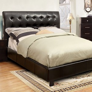 Contemporary Full Platform Bed with Bluetooth Speakers