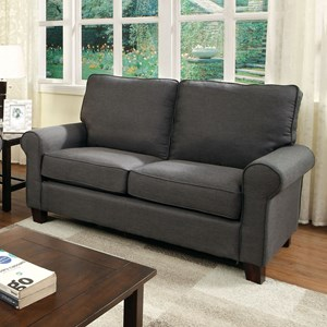 Loveseat with Rolled Arms