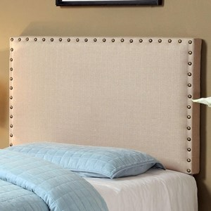 Twin Upholstered Headboard with Nailhead Trim