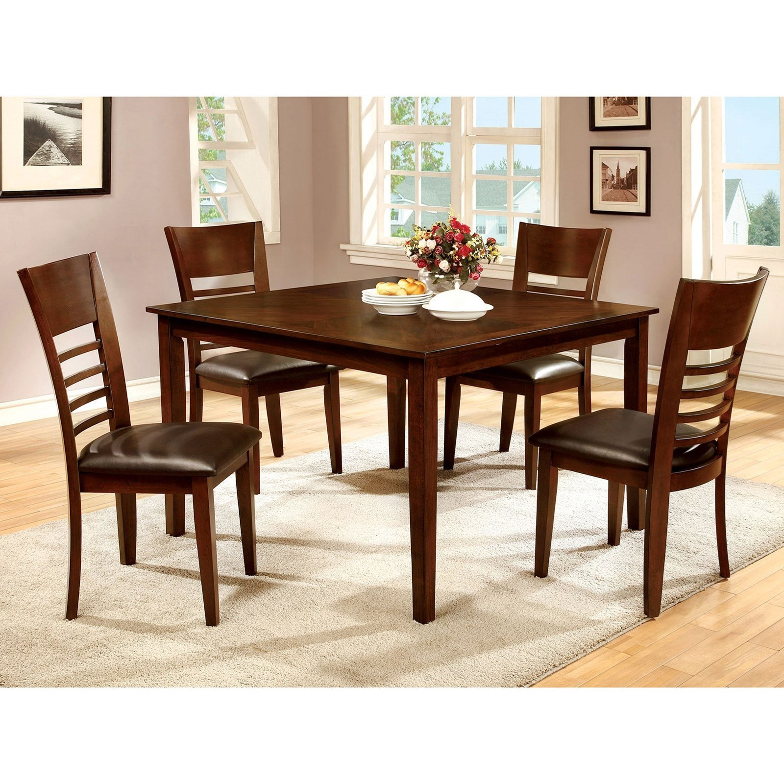 Hillsview Five Piece Dining Set by Furniture of America - FOA at Del Sol Furniture
