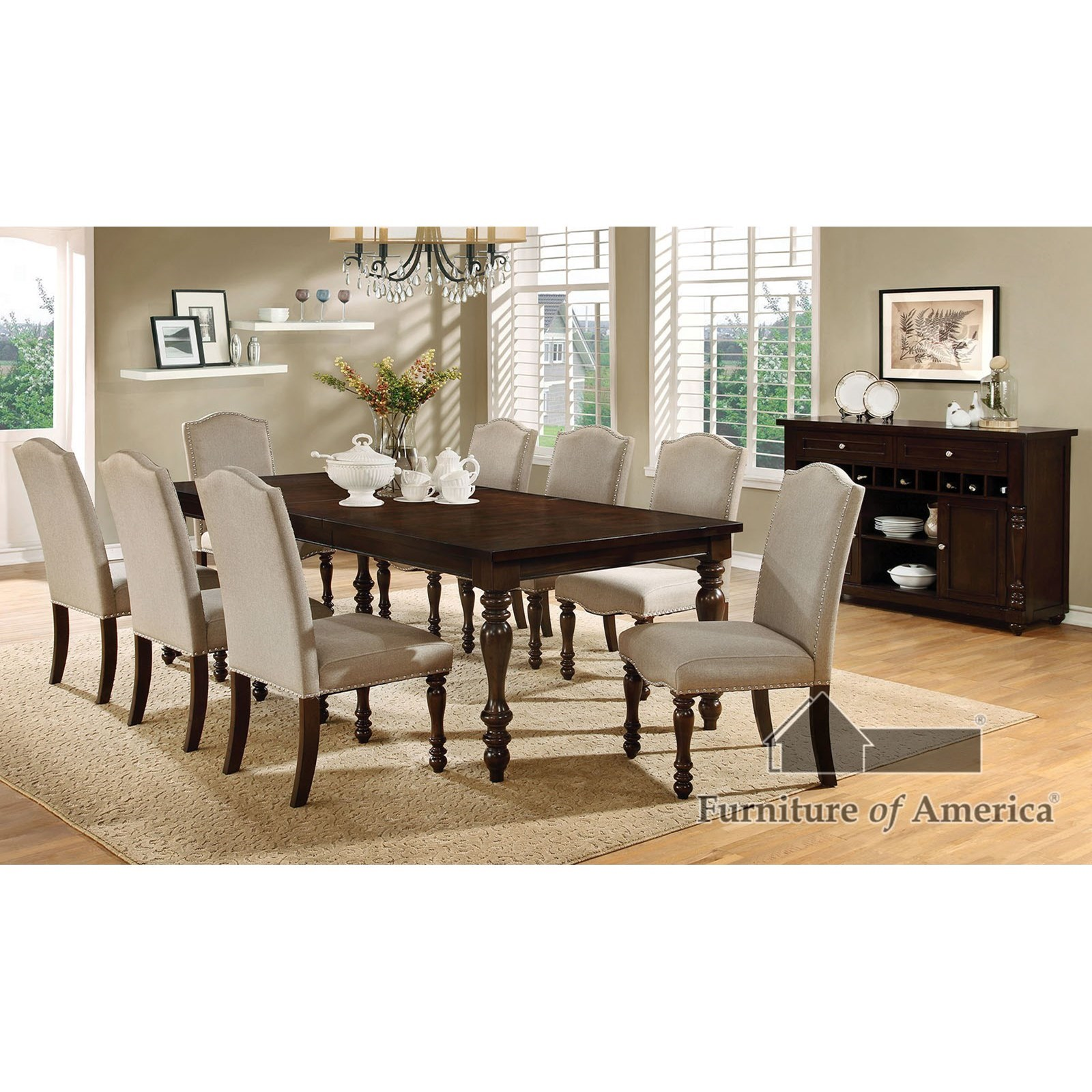 Holcroft Table + 4 Side Chairs + Bench at Household Furniture
