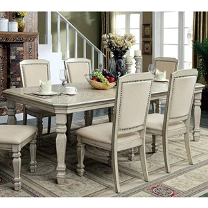 """Transitional Dining Table with Two 18"""" Leaves"""