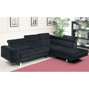 Contemporary Sectional with Bumper Chaise