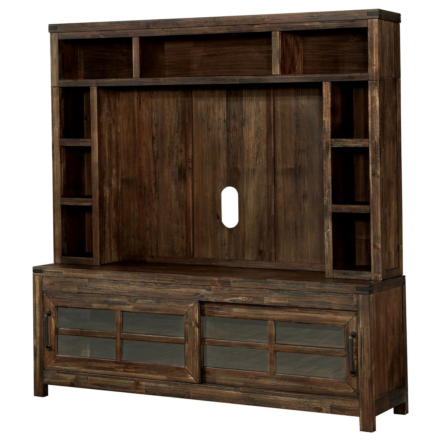 """Hopkins 72"""" TV Console + Hutch at Household Furniture"""