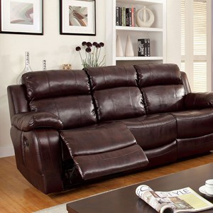 Reclining Sofa with Dropdown Table