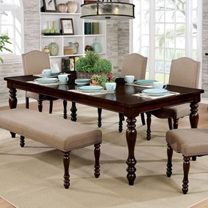 Transitional Dining Table with 1 Table Leaf