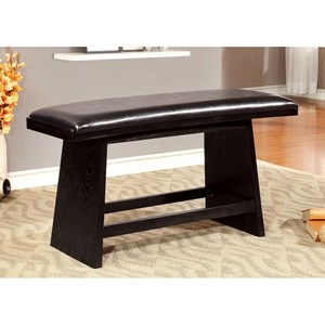 Contemporary Counter Height Bench with Upholstered Seat