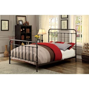 Transitional Metal Twin Bed