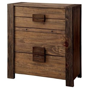Rustic Chest with Pull Out Desk Shelf