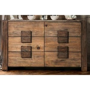 Rustic Dresser with Natural Wood Finish