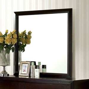 Transitional Mirror with Square Frame